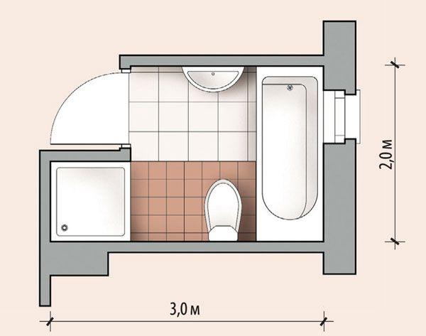 примеры расположения сантехники в ванной комнате - Поиск в Google