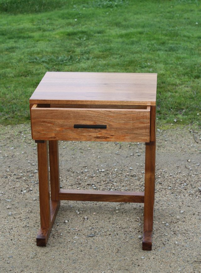 Single Drawer Bedside Table by Christopher Scott Furniture - Bedside, Bedroom, Blackwood, Ancient Red Gum, Dovetail, Solid Timber, Made To Order