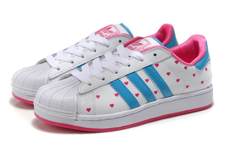 hello+kitty+adidas+superstar | Home » Adidas Originals Superstar II Polka Dots Heart Womens Shoes ...