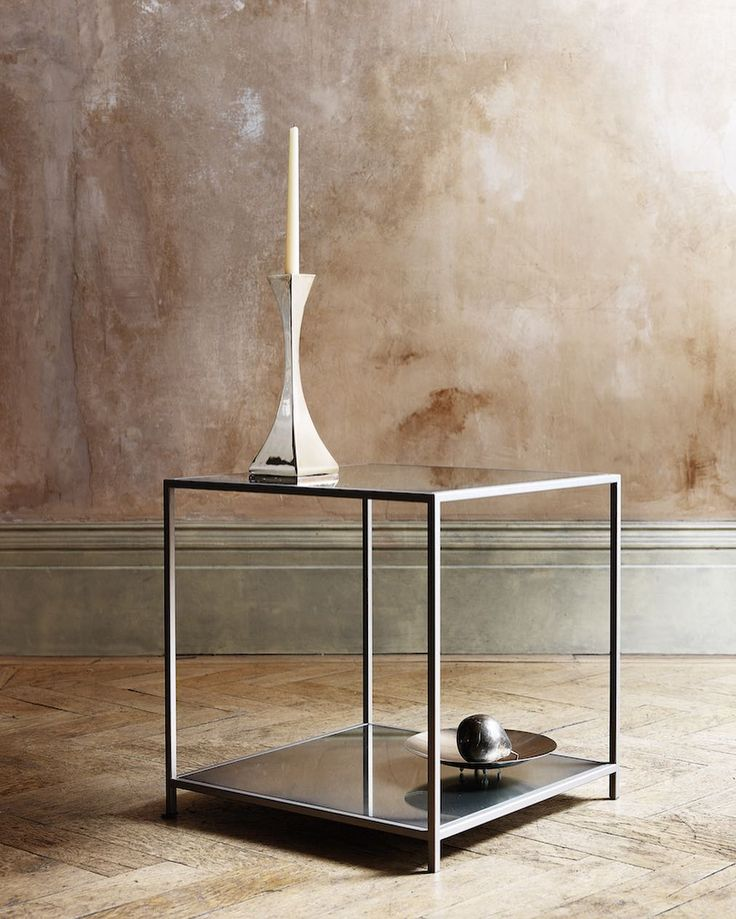 Lexington side table and Capricorn candlestick