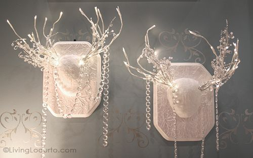 DIY Antler Lights Christmas Decor - Adorable!