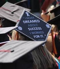 "A cool graduation cap idea.. think mine is gonna say.. ""this is what five years of hard work looks like."""