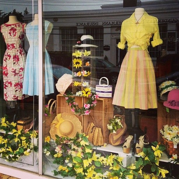 The weather may disagree, but our Garden Party window says it's Spring!