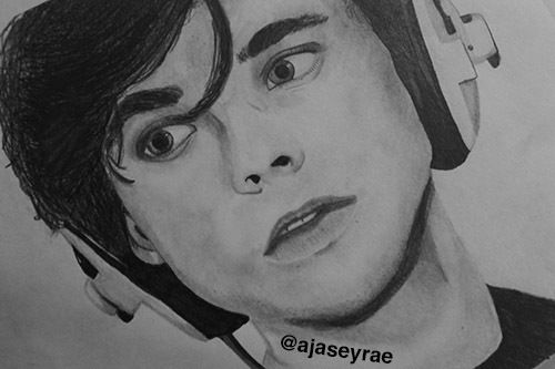 Image result for ashton irwin black and white drawing