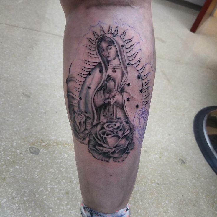 Tattoo Virgen de Guadalupe en proceso