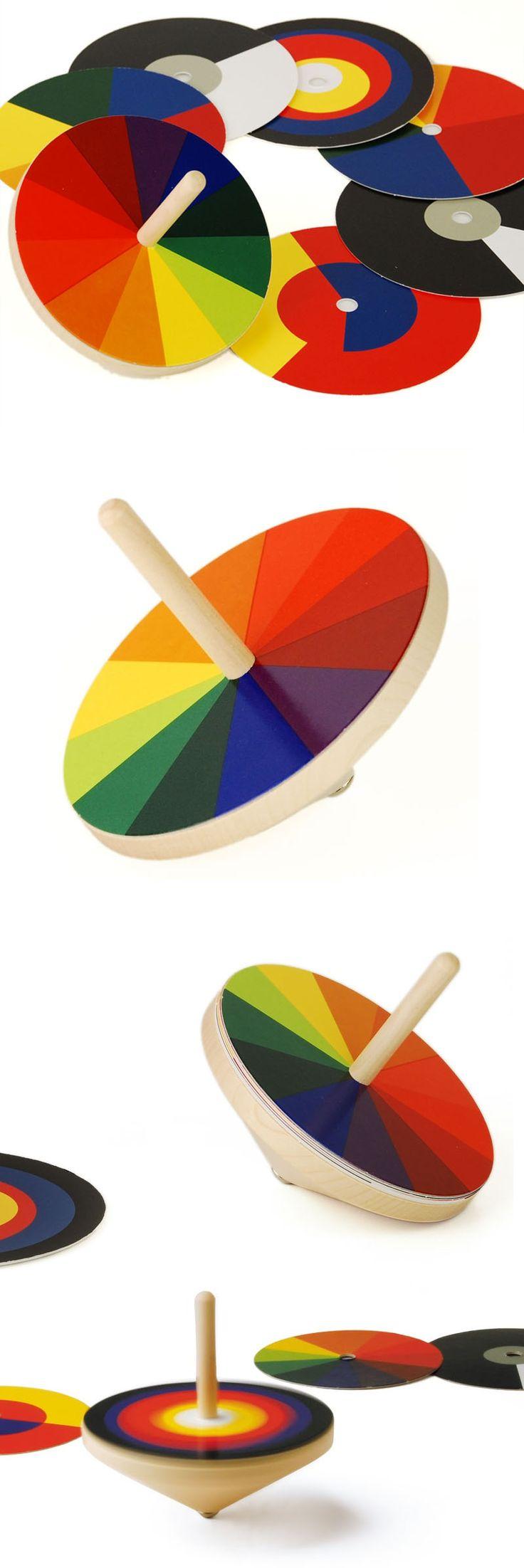 Naef Bauhaus Optischer Farbmischer Spinning Top Toy:  http://www.nova68.com/Merchant2/merchant.mvc?Screen=PROD_Code=naefbauhaus9718
