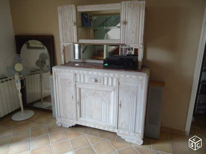 The 25 best meuble bahut ideas on pinterest bahut - Vaisselier mural ancien ...