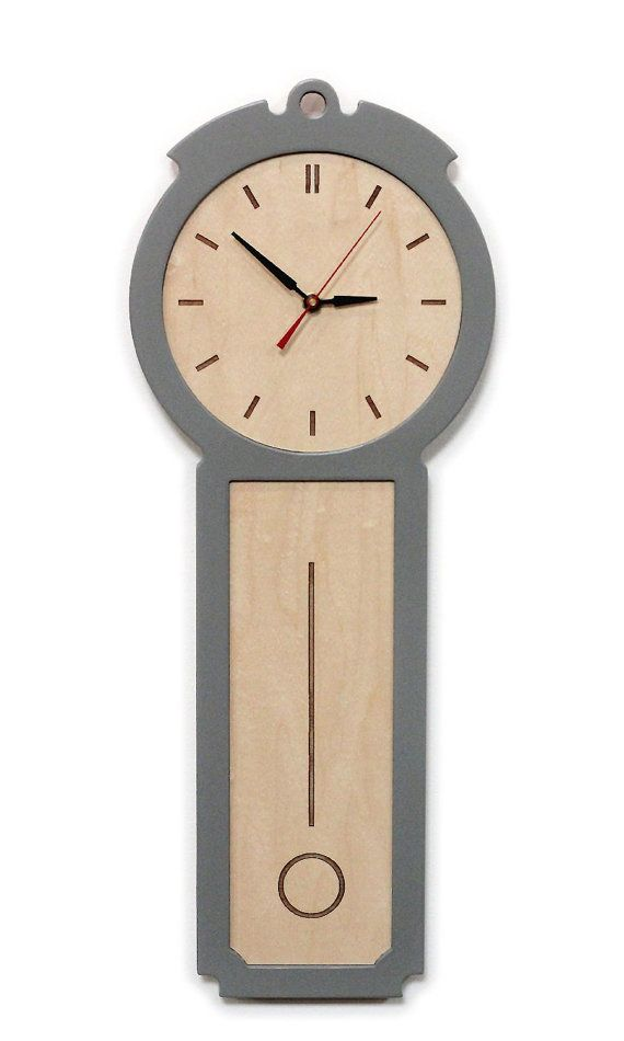 uncommon on etsy | kitchen wall clock - the colonial - chic modern wood wall clock