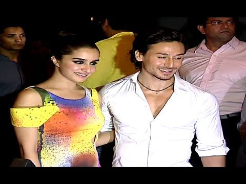Tiger Shroff & Shraddha Kapoor at the success party of BAAGHI movie.