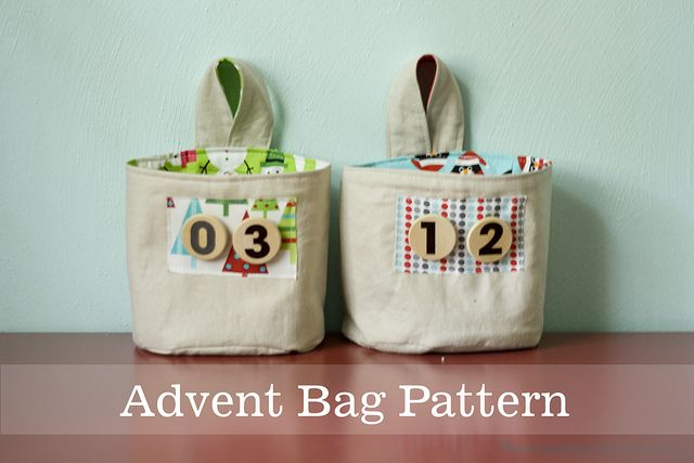 Advent Bag Tutorial and Free Pattern - by Jessica Fediw, of Happy Together