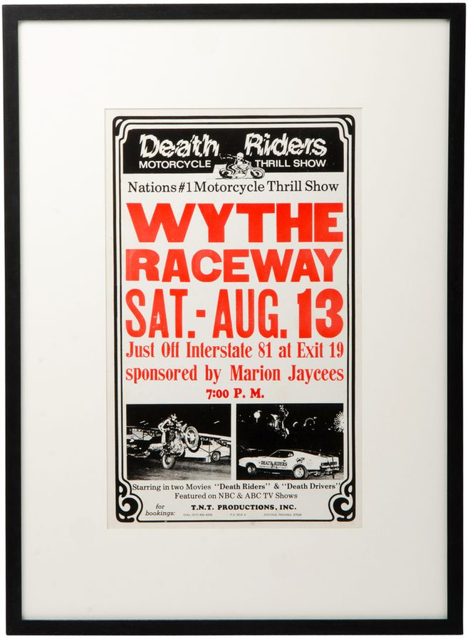 Framed Racetrack Poster Death Riders
