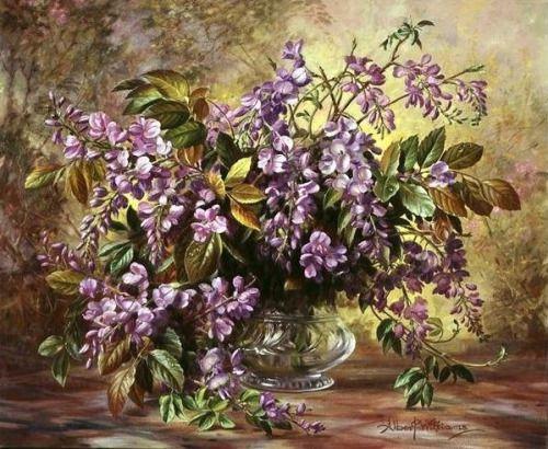 Натюрморт с Глицинией Альберт Вильямс (1922-2010).