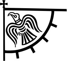 A modern reconstruction of the Norse raven banner (Old