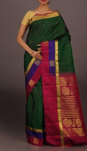 Vaibhavi Splendorous Peacock Motifs Wedding Dharmavaram Silk Saree