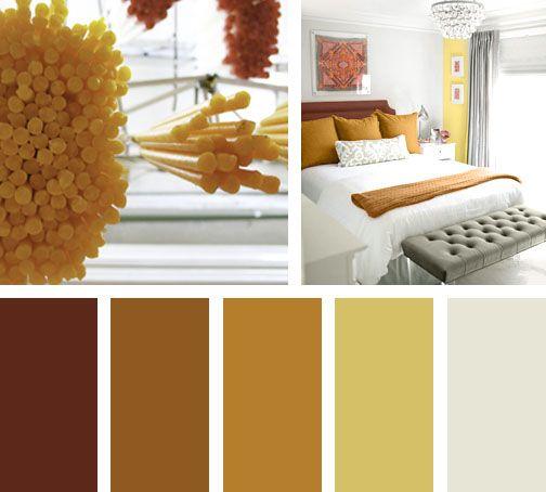 Las 25 mejores ideas sobre paletas de color naranja en - Paleta de colores para interiores ...