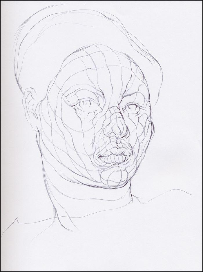 Contour Line Drawing Figure : Best images about portrait cross contour on pinterest