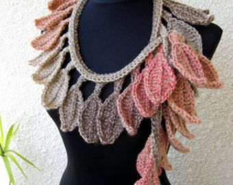 CROCHET Ruffle Scarf PATTERN DIY Crafts Unique by LyubavaCrochet