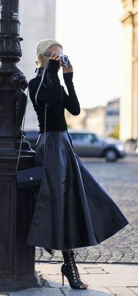 Gorgeous. I love this look and style. Simple in its colour but beautiful. With the draping on the skirt it would flatter most body types too #styleove…