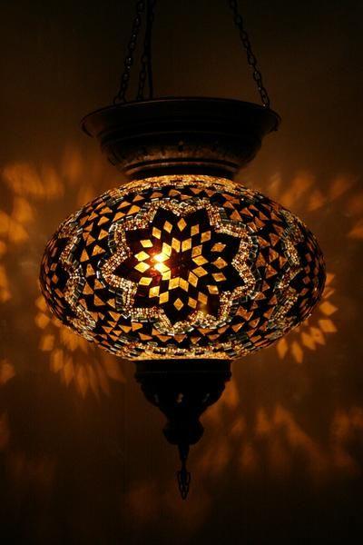 Amber Starflower Turkish Handmade Lampshade