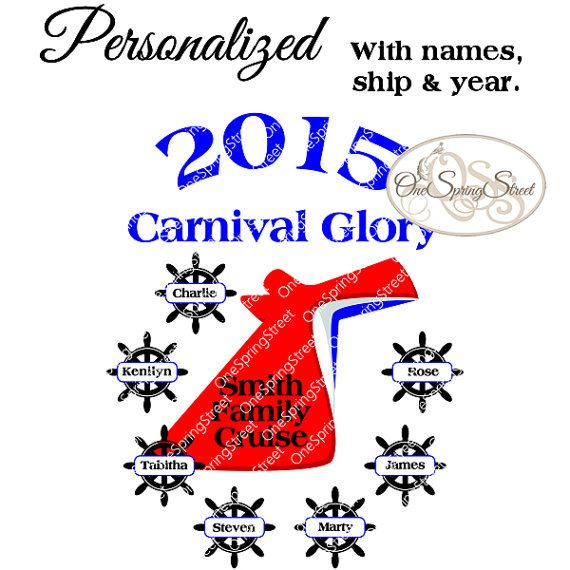 Carnival Cruise 2017 Personalized Family Group Vacation T