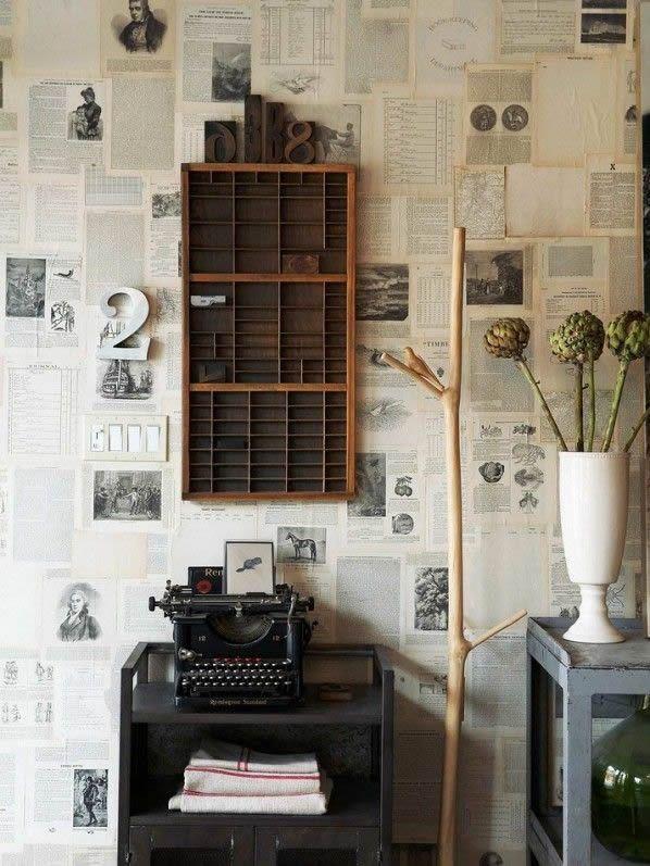 Papel tapiz de hojas de publicaciones.