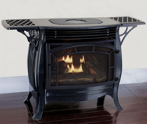 Duluth Forge Dual Fuel Ventless Gas Stove - Model FDSR25-GF, Gloss Finish, Remote Control - Factory Buys Direct