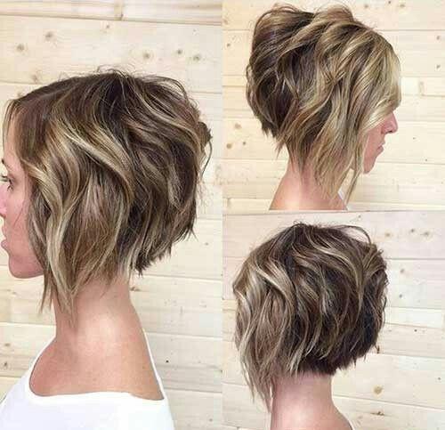 Beachy waves inverted bob hair styles