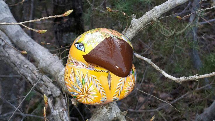 The bird of happiness - Sunny day.  Ceramic Ocarina. Animals sculpture. by Jivizvuk on Etsy