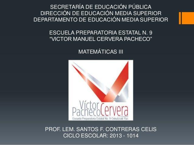 SECRETARÍA DE EDUCACIÓN PÚBLICA DIRECCIÓN DE EDUCACIÓN MEDIA SUPERIOR DEPARTAMENTO DE EDUCACIÓN MEDIA SUPERIOR ESCUELA PRE...