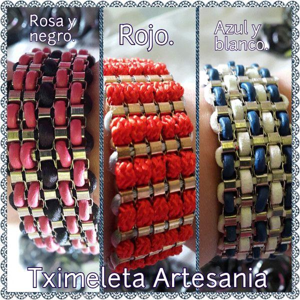 Pulsera ancha. de Tximeleta Artesanía por DaWanda.com