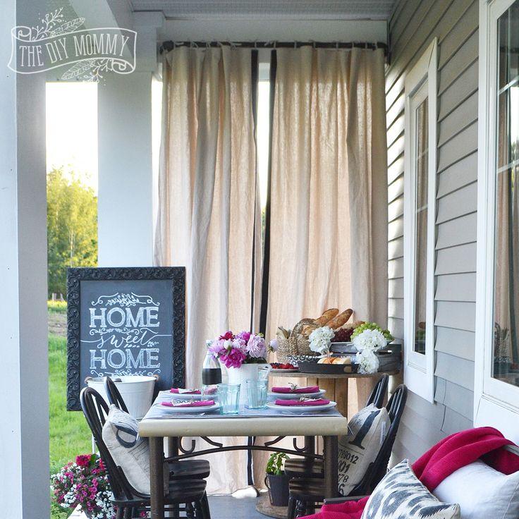 Best 25+ Outdoor Drapes Ideas On Pinterest | Deck Curtains, Drop Cloth Curtains  Outdoor And Outdoor Curtains