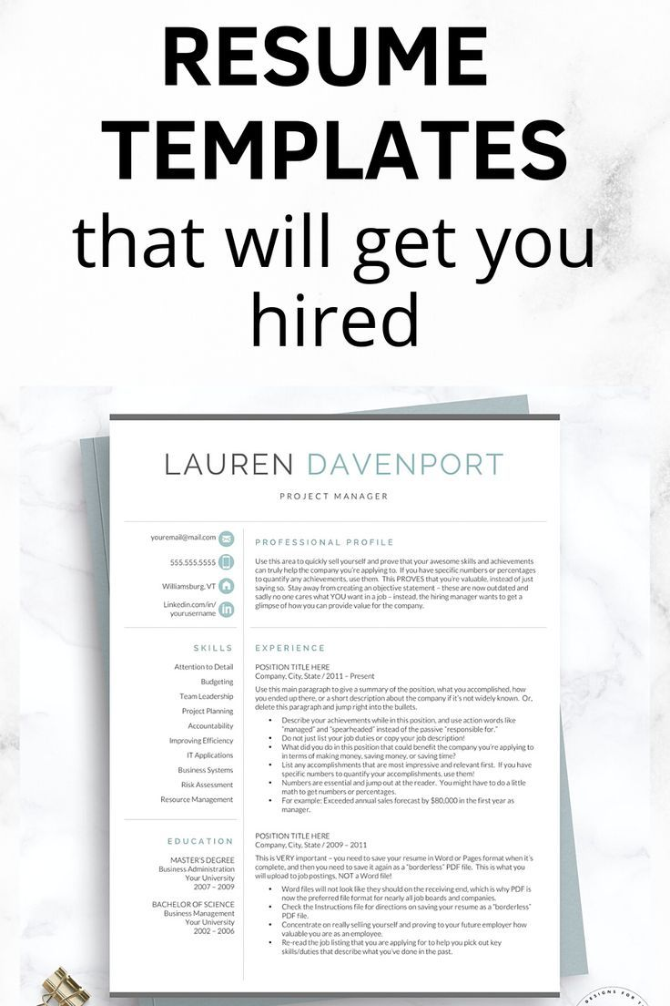 The Best Resume Examples That Will Get You Hired In 2020 Resume Examples Professional Resume Examples Resume Tips