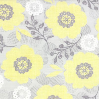 Modern Roses - Pretty Polly in Honey Sweet Grey (7181 11) // Juberry Fabrics
