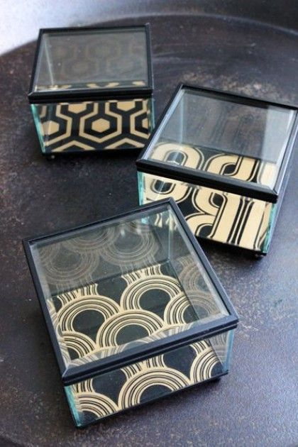 Boho Glass Trinket Boxes - Choice of 3 Designs