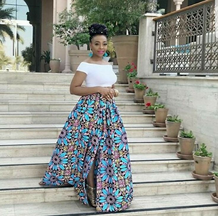 Beautiful maxi ankara skirt with slit...