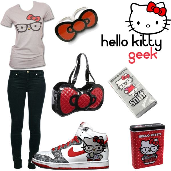 HELLO KITTY GEEK @Betsy Buttram Smith