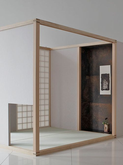 Japanese tea room made by Washi (Japanese paper) 新茶室「桜庵」