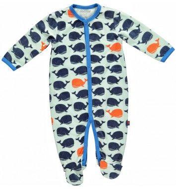 Minymo Pyjamas Whale Blå