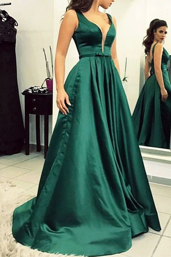 9fb3baf0781 Bowknot Sleeveless Floor-Length Straps Evening Dress 2019 Fabulous Dresses