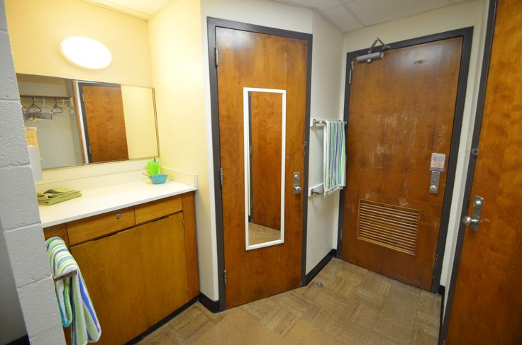 Each Room In Herget Hall Has A Mirror And Vanity For Extra