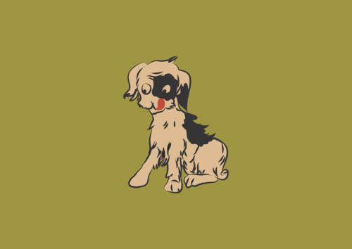 dog vector, baby, red, tail, brown, vector, happiness, ears, friendship, head, paws, sit, pup, mutt, eyes, cute, illustration, look, face, clip, adorable