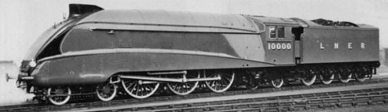 Rebuilt Gresley W1 No. 10000; Doncaster Nov. 1937