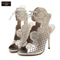2015 nueva llegada del verano del estilo tacones altos plataforma Peep Toe zapatos mujer zapatos de boda bombas de plata y plata pistola sandalias clasifican 35-40