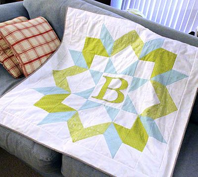 """Baby quilt. Great Idea for a """"Swoon"""" or Carpenter's block by Frivolous Necessity"""