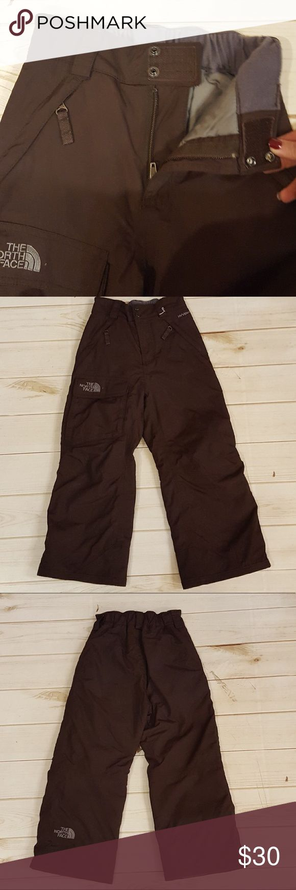 The North Face girls ski pants! Size x-small. Chocolate brown snow ski pants! Super warm and in good condition. The North Face Bottoms