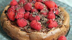 Sjokoladekake med bringebær og lakris