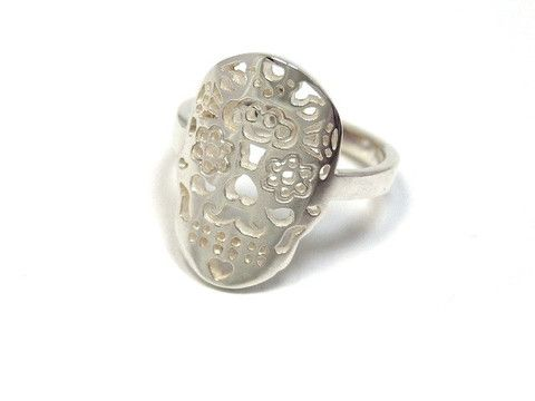 Sterling silver Calavera ring