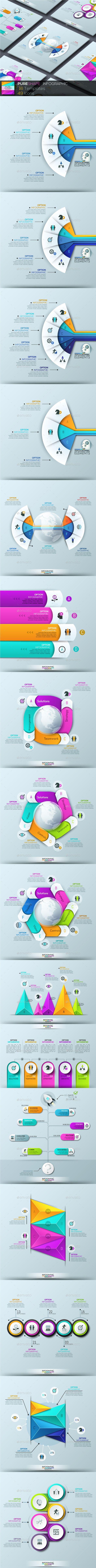Pure Shape Infographic Template PSD, Vector EPS, AI Illustrator