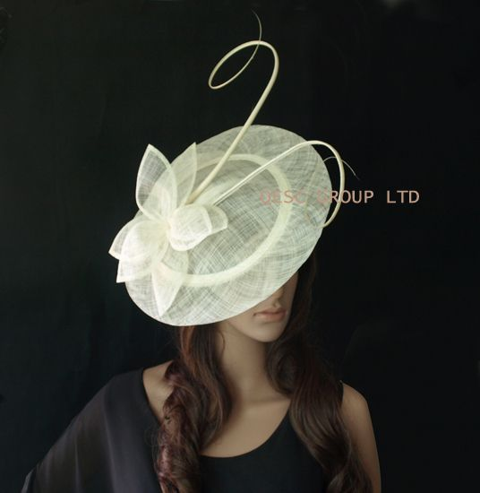 Cheap hat beret, Buy Quality fascinator suppliers directly from China hat shoe Suppliers: 	New design large sinamay fascinator with sinamay leaf flower and ostrich spine 	1.style no.:QF107 	2.Material:sinamay(2