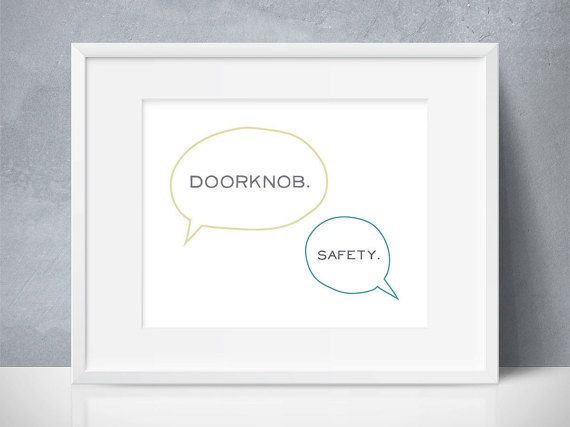 Doorknob Safety Fart Funny Humor 90's Safety by MochaMommyDesigns